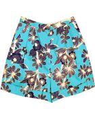 Karen Walker Cuff Shorts - Lyst
