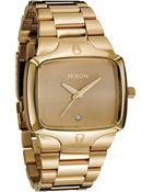 Nixon The Player Watch in Gold - Lyst