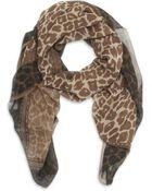 Fendi Leopard Print Silk Scarf - Lyst