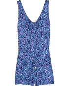 Diane von Furstenberg Rompie Leopard-Print Jersey Playsuit - Lyst