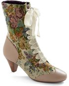 ModCloth Whats On Tapestry Boot in Bone - Lyst