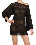 Agogoa Oversized Cotton Tricot Dress - Lyst