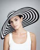 Eric Javits Striped Wide-brim Hat - Lyst