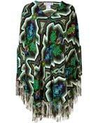 Paul & Joe Multicolor Native Print Silk Poncho - Lyst