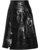 Proenza Schouler Button-front Eel A-line Skirt - Lyst