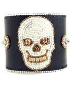 Janina Grigore Dark Night Skull Bracelet - Lyst