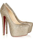 Christian Louboutin Daffodile 160 Crystal-Embellished Suede Pumps - Lyst