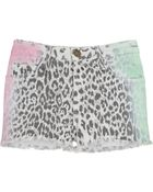 Current/Elliott Multi Airbrush Boyfriend Leopard Short - Lyst