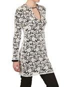 MSGM Macrame Lace Cotton Jersey Dress - Lyst
