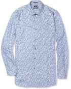 Paul Smith Floral Print Cotton Shirt - Lyst
