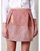 Carven Tweed Skirt - Lyst