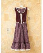 Free People Vintage Maroon Gunne Sax Dress - Lyst