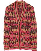 Missoni Colette Chunky Knit Wool Blend Cardigan - Lyst