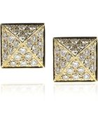 Anita Ko Pyramid 18-Karat Gold Diamond Stud Earrings - Lyst