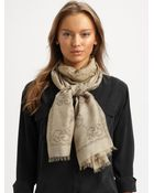 Gucci Tiger Gg Pattern Stole Scarf - Lyst
