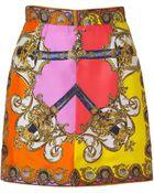 D&G Multicolor Foulard Print Silk Skirt - Lyst
