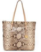 Michael Kors Jet Set Pythonembossed Large Item Tote - Lyst