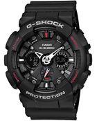 G-Shock Mens Analog Digital Matte Black Resin Strap Watch - Lyst