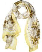 Roberto Cavalli Submarine Print Silk Chiffon - Lyst