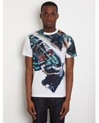 Christopher Kane Christopher Kane Mens White Engine Tshirt - Lyst