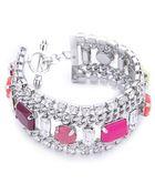 Juicy Couture Multi Layer Gem Bracelet - Lyst
