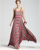 Parker Dress Printed Maxi with Pleated Skirt - Lyst