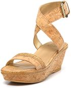 Stuart Weitzman Wedges Wraptorlo Ankle Sandals - Lyst