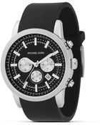 Michael Kors Black Stainless Steel Chronograph Watch, 45 Mm - Lyst