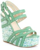 Nine West Bardough Wedge Sandals - Lyst
