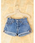 Free People Vintage Levis Highwaisted Denim Shorts - Lyst