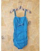 Free People Vintage Blue Polka Dot Swim Suit - Lyst