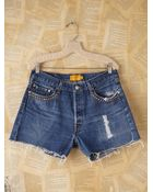 Free People Vintage Custom Studded Denim Cutoff Shorts - Lyst