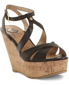 G by Guess Tenor Platform Wedge Sandals - Lyst