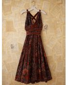 Free People Vintage Batik Printed Maxi Dress - Lyst