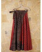 Free People Vintage Batik Printed Wrap Skirt - Lyst