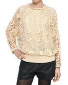 Isabel Marant Guipure Lace Cotton Sweatshirt - Lyst