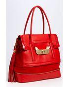 Diane von Furstenberg Harper Laurel Leather Shoulder Bag - Lyst