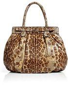 Zagliani Leopard Print Puffy Bag - Lyst