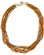 Michael Kors Semi Precious Dyed Howlite Multistrand Necklace - Lyst