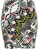 Topshop Party Queen Bodycon Skirt - Lyst