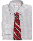 Brooks Brothers Supima Cotton Noniron Slim Fit Mini Graph Check Dress Shirt - Lyst