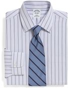 Brooks Brothers Supima Cotton Noniron Slim Fit Alternating Triple Stripe Dress Shirt - Lyst
