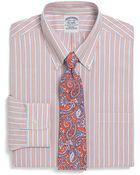 Brooks Brothers Supima Cotton Noniron Extraslim Fit Tonal Stripe Dress Shirt - Lyst