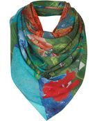 Topshop Parrot Scarf By Beta - Lyst