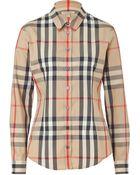 Burberry Brit New Classic Check Cotton Stretch Shirt - Lyst