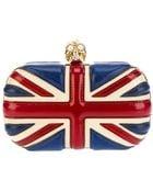Alexander McQueen 'Britannia Skull' Box Clutch - Lyst