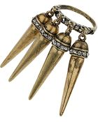 Topshop Spike Cluster Ring - Lyst