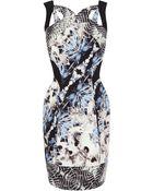 Karen Millen Scuba Texture Print On C - Lyst