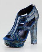 Rachel Zoe Peggy Snakeskin Platform Sandal - Lyst