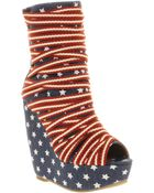 Jeffrey Campbell Ping Pong Wedge Ankle Bt - Lyst
